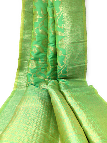 Two Tone Yellow Green Banarasi Dupatta Buy Online