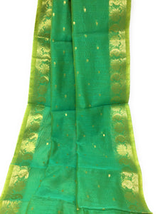 Chenderi Dupatta Green Colour