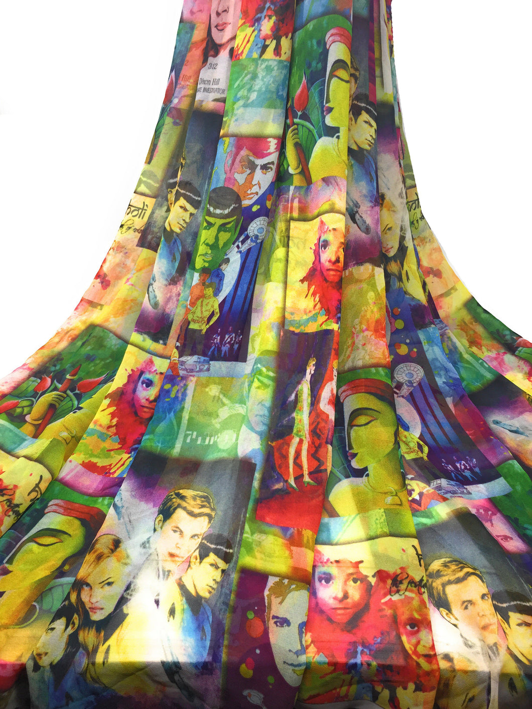 printed georgette fabric