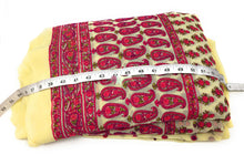 Load image into Gallery viewer, dress materials online shopping embroidery materials Pink, Cream Velvet embroidery on Gota Upto 45 inch wide wide 1622