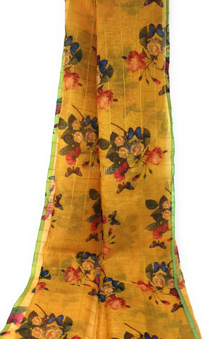 Check Print Fabric in Chanderi Material