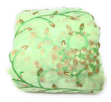 Load image into Gallery viewer, green organza fabric
