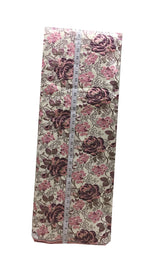 Kurti Material Blouse Fabric by meter Cream Pink Silver Stiff Brocade 160cm wd