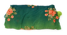 Load image into Gallery viewer, plain embroidery fabric embroidery cloth materials Chiffon Blue, Green, Peacock Green 44 inches Wide 1717