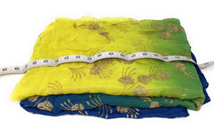 blouse fabric online india buy fabric online india Embroidery Chiffon Cobalt Blue, Peacock Green, Yellow