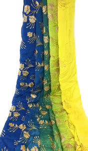 kurti material online shopping buy fabric online india Embroidery Chiffon Cobalt Blue, Peacock Green, Yellow 44 inches Wide 1718