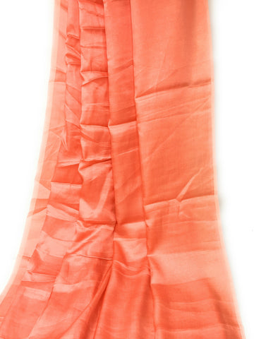 Pure Orange Silk Material - Solid Colour