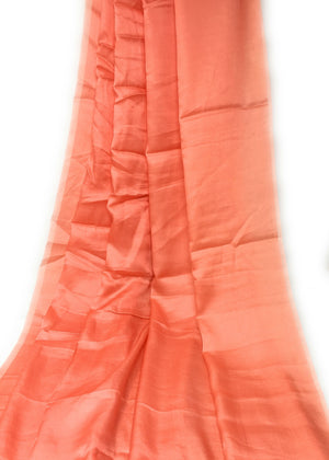 Pure Orange Silk Material - Solid Colour Fabric By The Yard - 1.5 Meter