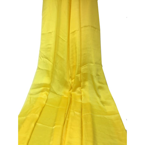 Pure Yellow Silk Material Plain - fabric Slik Soft Slik Plain fabricÊ SolidSilk