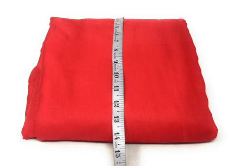 Pure Red Silk Fabric Material Cloth Material Online - 1.5 Meter
