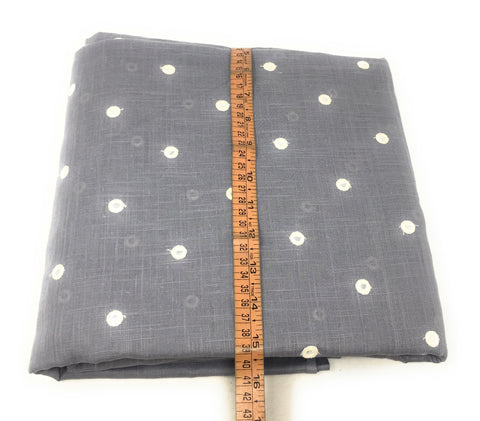 Mirror Work Cloth In Pure Cotton In Grey Cloth By The Yard - 1.5 Meter