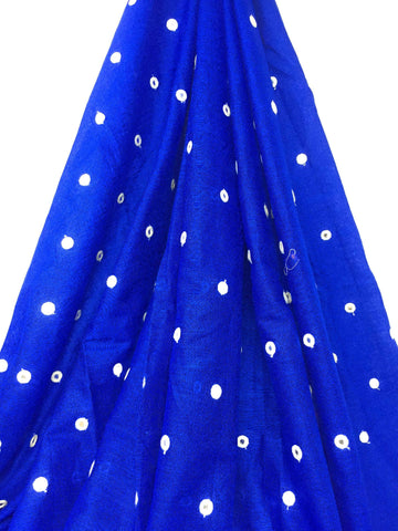 Mirror Work Cloth In Cotton Material In Blue