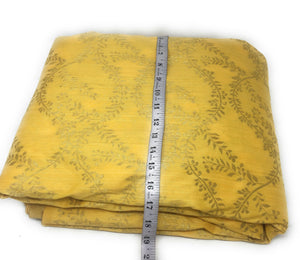 Yellow Brocade Fabric With Gold Jacquard Work Indian Fabric Online - 1.5 Meter