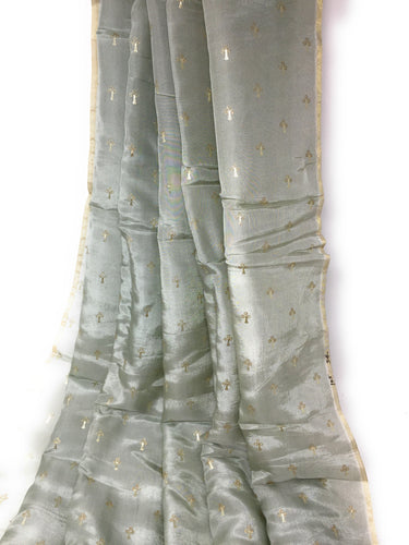 Sage Green Crisp Luxurious Silk Fabric