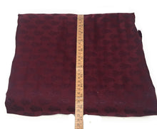 Load image into Gallery viewer, Real Silk By The Yard, Damask Pattern, Maroon Colour By The Meter - 1.5 Meter