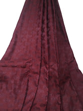 Load image into Gallery viewer, Real Silk By The Yard, Damask Pattern, Maroon Colour