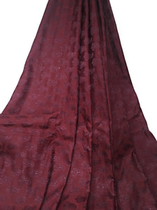 Real Silk By The Yard, Damask Pattern, Maroon Colour