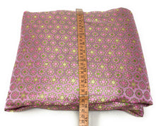 Load image into Gallery viewer, Real Banarasi Silk Brocade Fabric In Lavender, Floral Pattern By The Meter - 1.5 Meter
