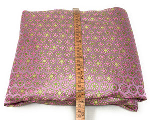 Real Banarasi Silk Brocade Fabric In Lavender, Floral Pattern By The Meter - 1.5 Meter