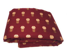 Load image into Gallery viewer, Maroon Silk Brocade Fabric Material