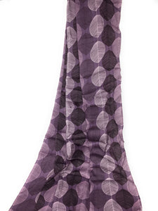 Violet Floral Print Modal Satin Fabric