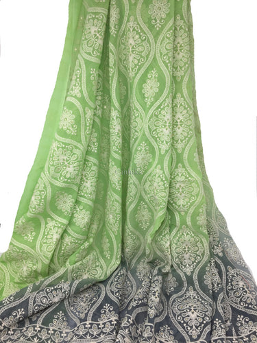 light green colour dress material
