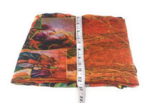 Load image into Gallery viewer, Multicolour Indian Paintings Print Georgette Fabric