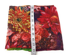 Load image into Gallery viewer, Multicolour Floral Print Georgette Fabric