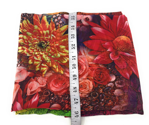 Image of Multicolour Floral Print Georgette Fabric