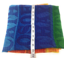 Load image into Gallery viewer, Multicolour Alphabet Print Georgette Fabric