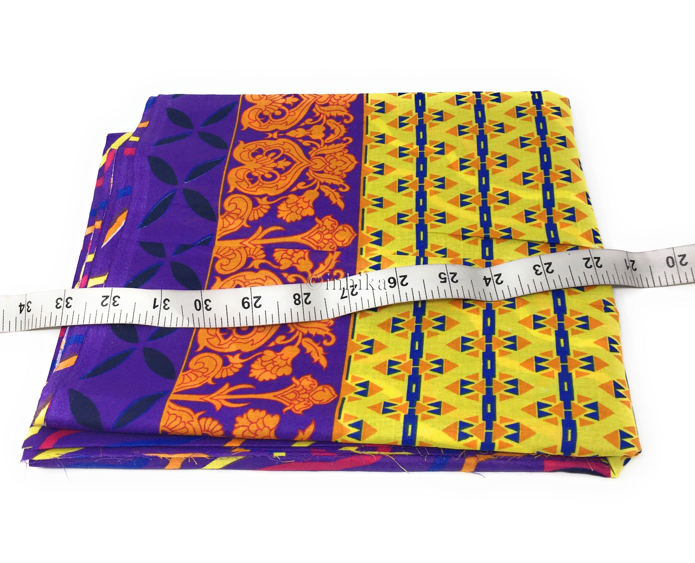 Pure Cotton, Printed colour fast leheriya design with panel, purple colour