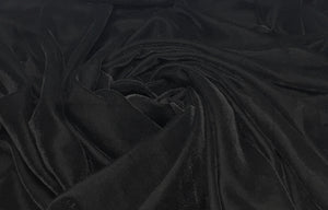 Black Velvet Fabric, Micro 9000, Plain Solid