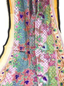 Embroidery Work Dupatta - Kantha on Madhubani