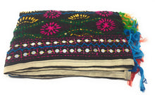 Load image into Gallery viewer, Multicolor Kutchi Embroidered Dupatta in  Black Colour Base