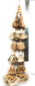 Rose Gold Designer Tassels For Lehenga - Set of 2