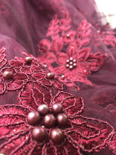 Load image into Gallery viewer, Net Floral Embroidery with Bead Sequins Work fabric material