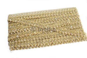 Thin Gold Edging Beaded Lace Trim