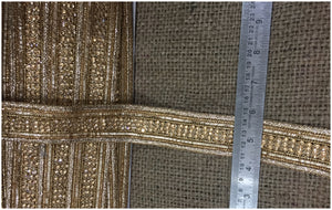 Gold Lace Trim on Fabric in Applique Style