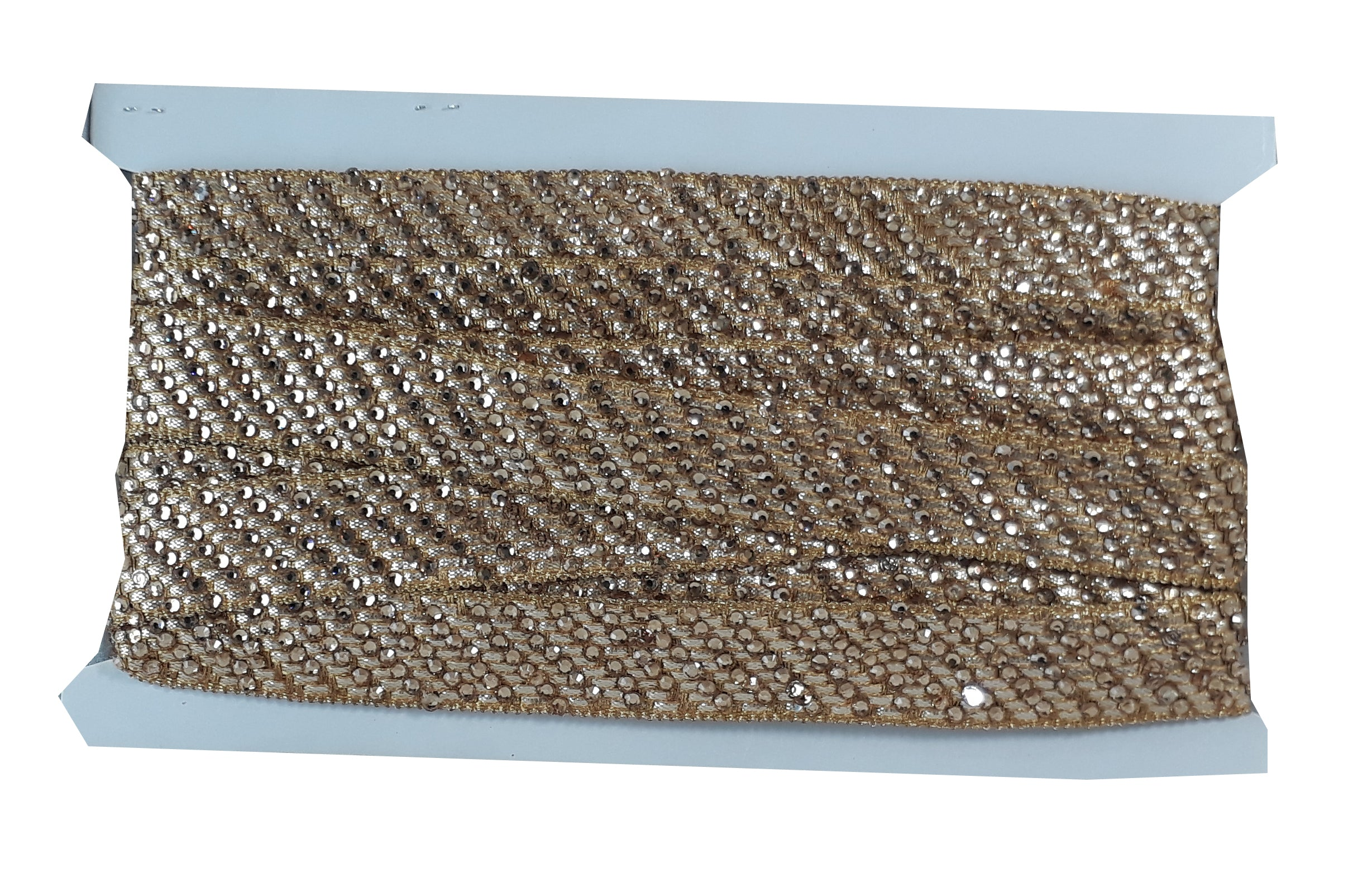 Gold Silver Copper Mat Beaded Lace