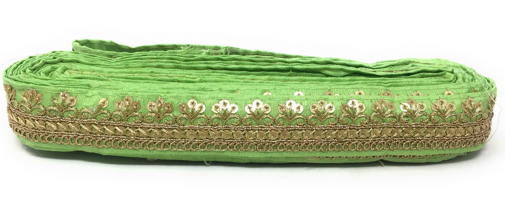 pista green saree border