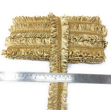 Load image into Gallery viewer, Gold Tassel Trim In Beige And Gold Colour
