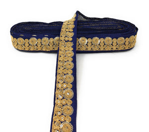 Blue Embroidered Tape Trim Laces For Sarees & Dupatta