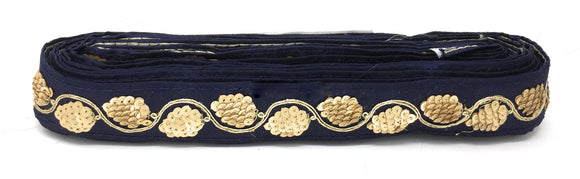 navy blue fabric trim