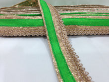 Load image into Gallery viewer, dark green lace trim