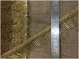 Gold Beaded Tassle Fringe Trim | Bead Pipe Material | 1.6 inch Wide | 9 Meter Bolt