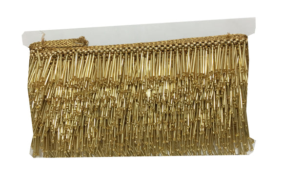 Gold Beaded Tassle Fringe Trim
