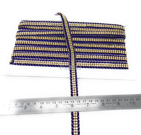 navy blue and gold ribbon