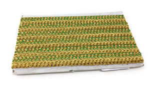 green beaded trim