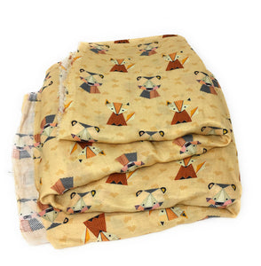 nursery print fabric in linen material