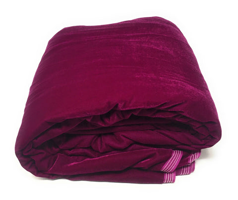 Image of Solid Magenta Velvet Fabric